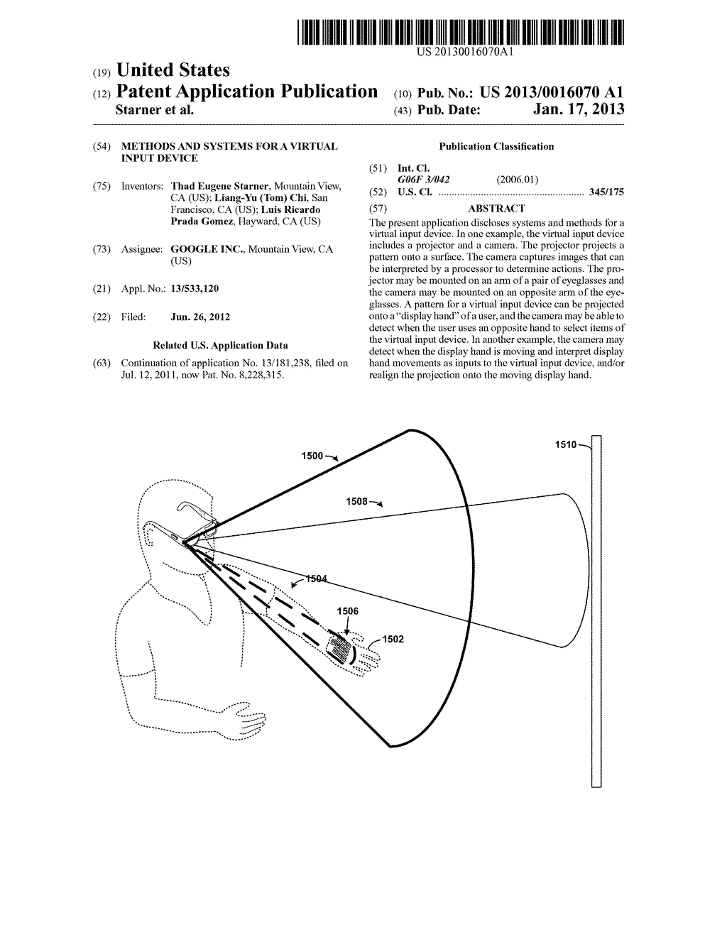 Methods and Systems for a Virtual Input Device - diagram, schematic, and image 01