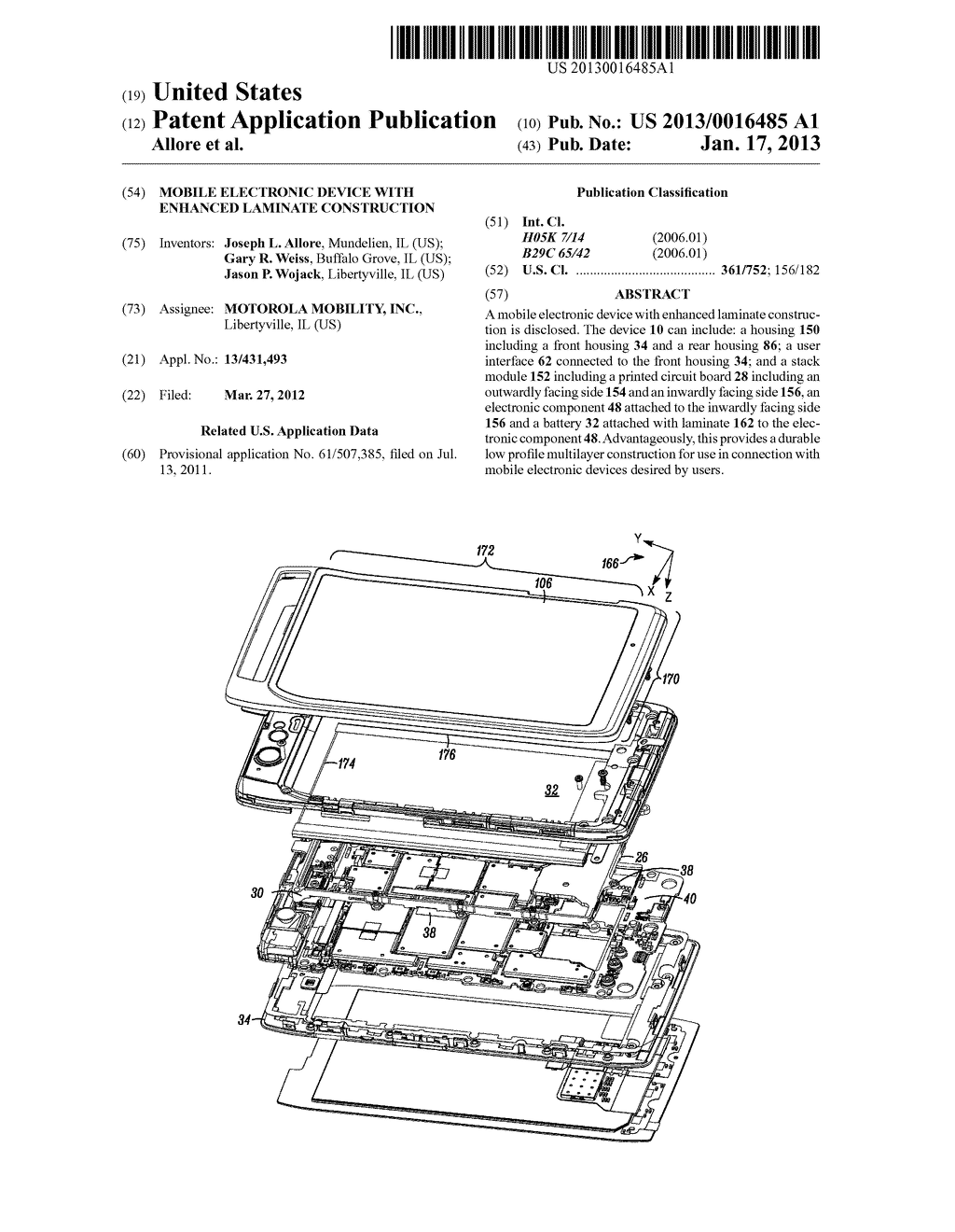 MOBILE ELECTRONIC DEVICE WITH ENHANCED LAMINATE CONSTRUCTION - diagram, schematic, and image 01