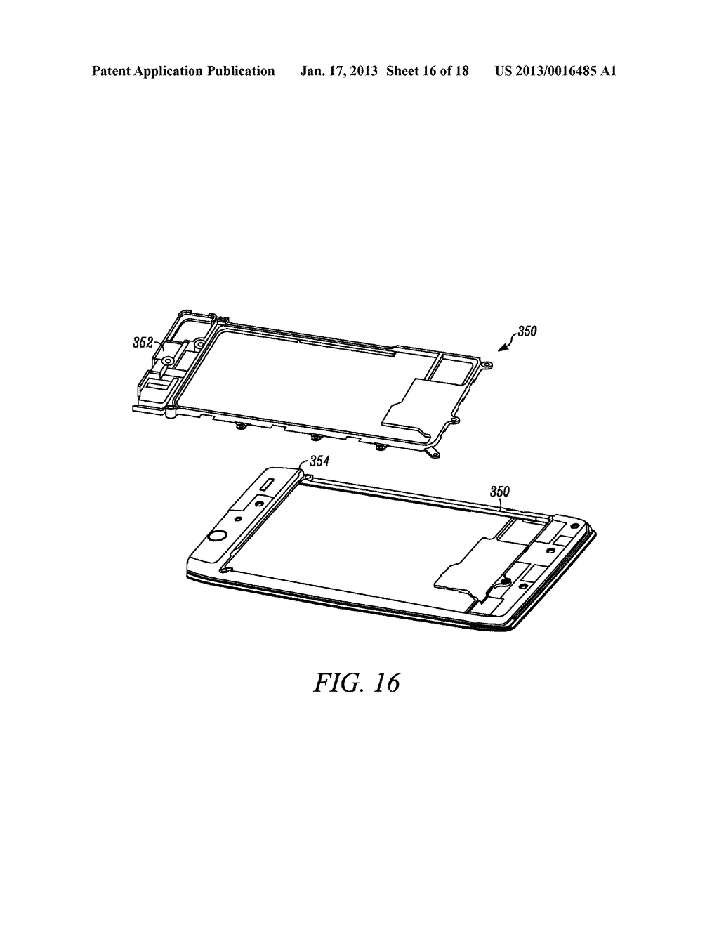 MOBILE ELECTRONIC DEVICE WITH ENHANCED LAMINATE CONSTRUCTION - diagram, schematic, and image 17