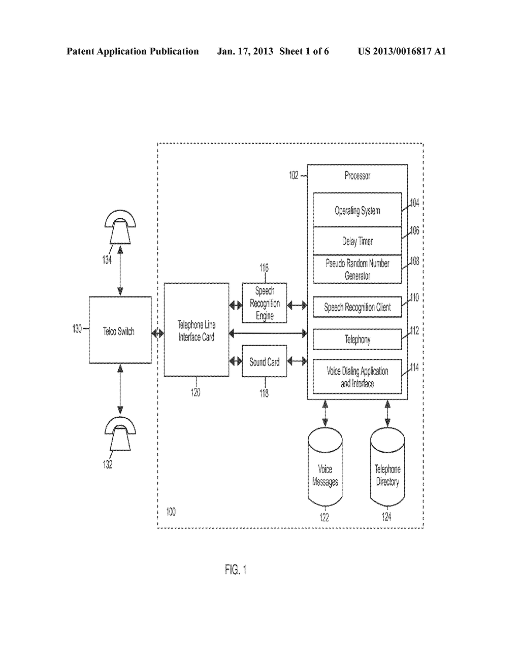 Voice Response Apparatus and Method of Providing Automated Voice Responses     with Silent Prompting - diagram, schematic, and image 02