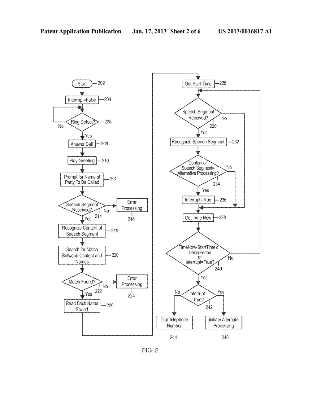Voice Response Apparatus and Method of Providing Automated Voice Responses     with Silent Prompting - diagram, schematic, and image 03