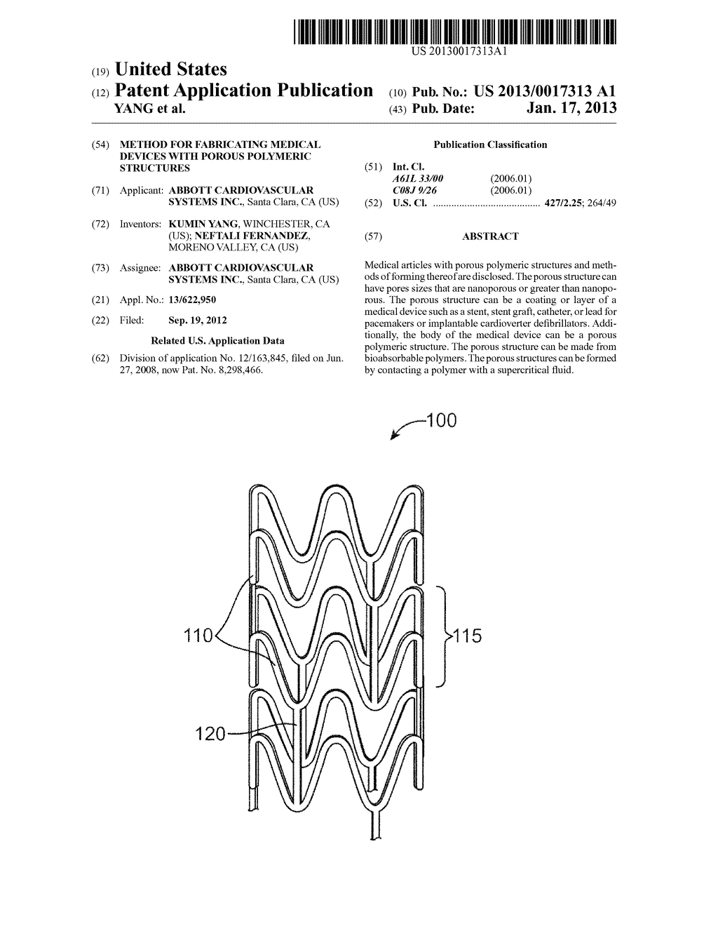 METHOD FOR FABRICATING MEDICAL DEVICES WITH POROUS POLYMERIC STRUCTURES - diagram, schematic, and image 01