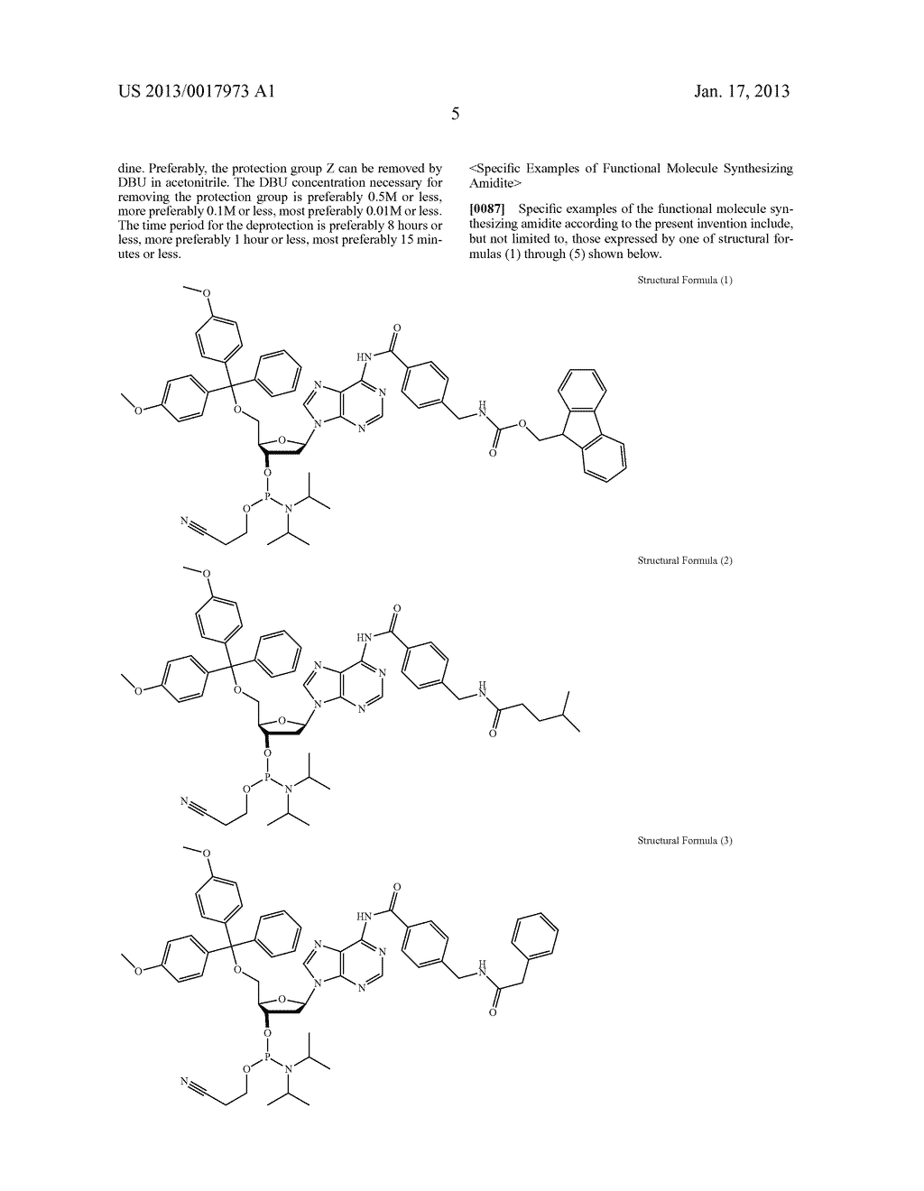 FUNCTIONAL MOLECULE, FUNCTIONAL MOLECULE SYNTHESIZING AMIDITE AND TARGET     SUBSTANCE ANALYSIS METHOD - diagram, schematic, and image 55