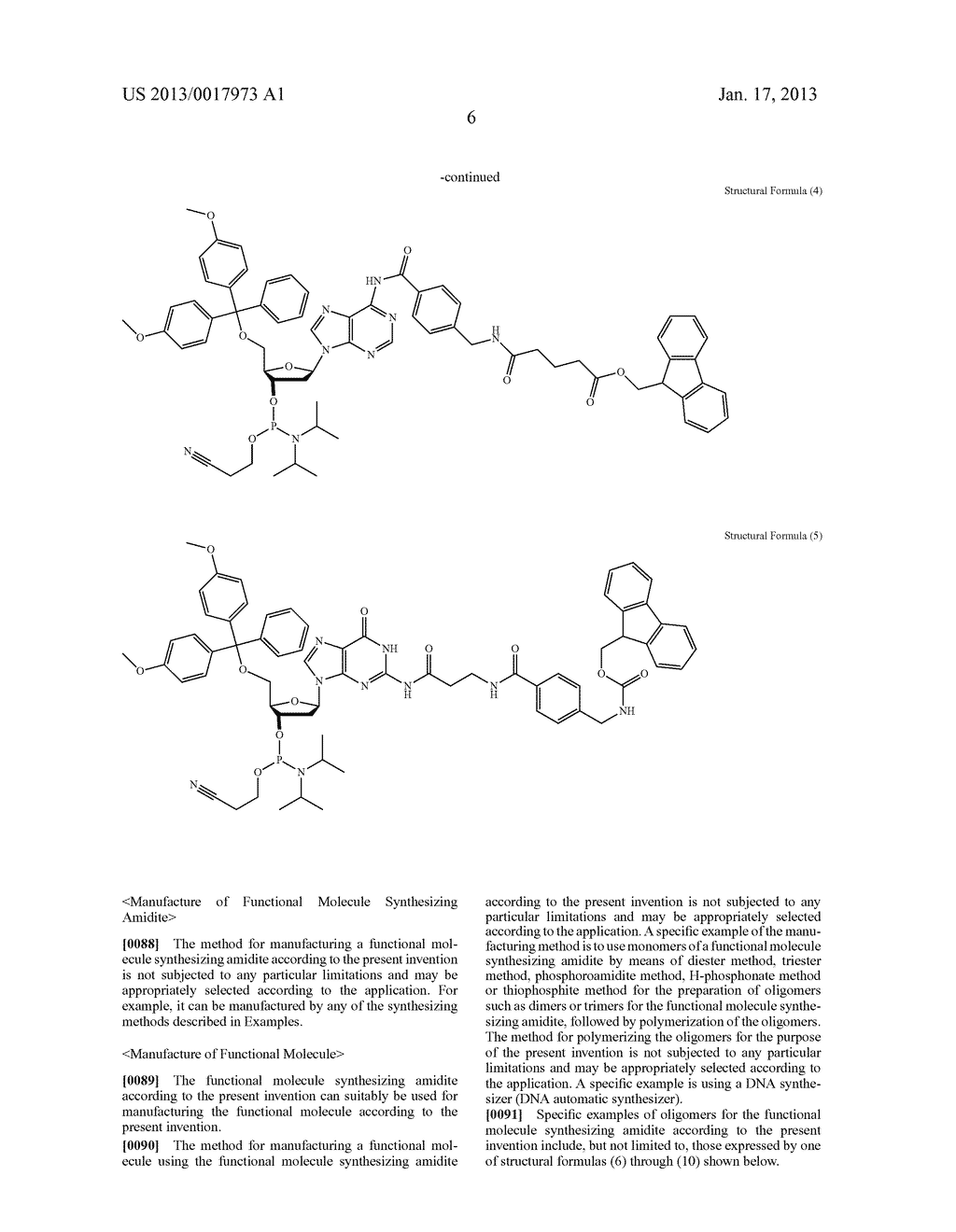 FUNCTIONAL MOLECULE, FUNCTIONAL MOLECULE SYNTHESIZING AMIDITE AND TARGET     SUBSTANCE ANALYSIS METHOD - diagram, schematic, and image 56
