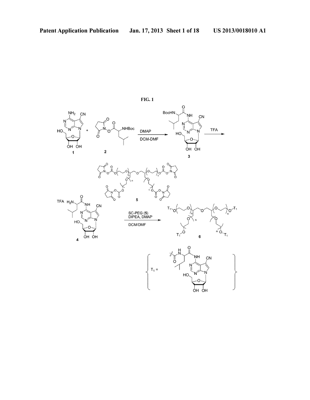 POLYMERIC CONJUGATES OF ADENINE NUCLEOSIDE ANALOGS - diagram, schematic, and image 02