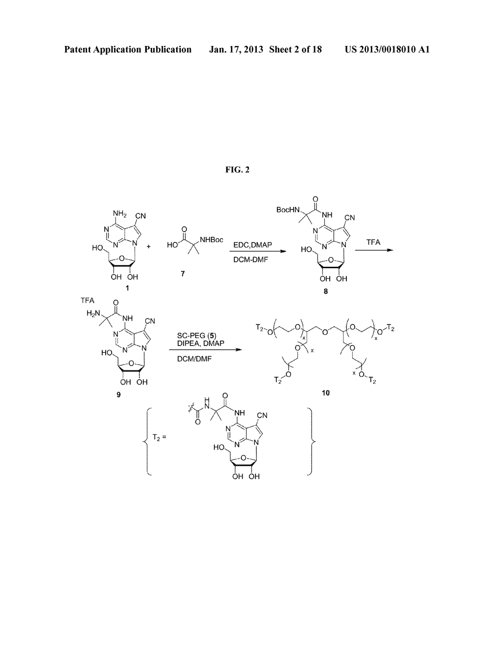 POLYMERIC CONJUGATES OF ADENINE NUCLEOSIDE ANALOGS - diagram, schematic, and image 03