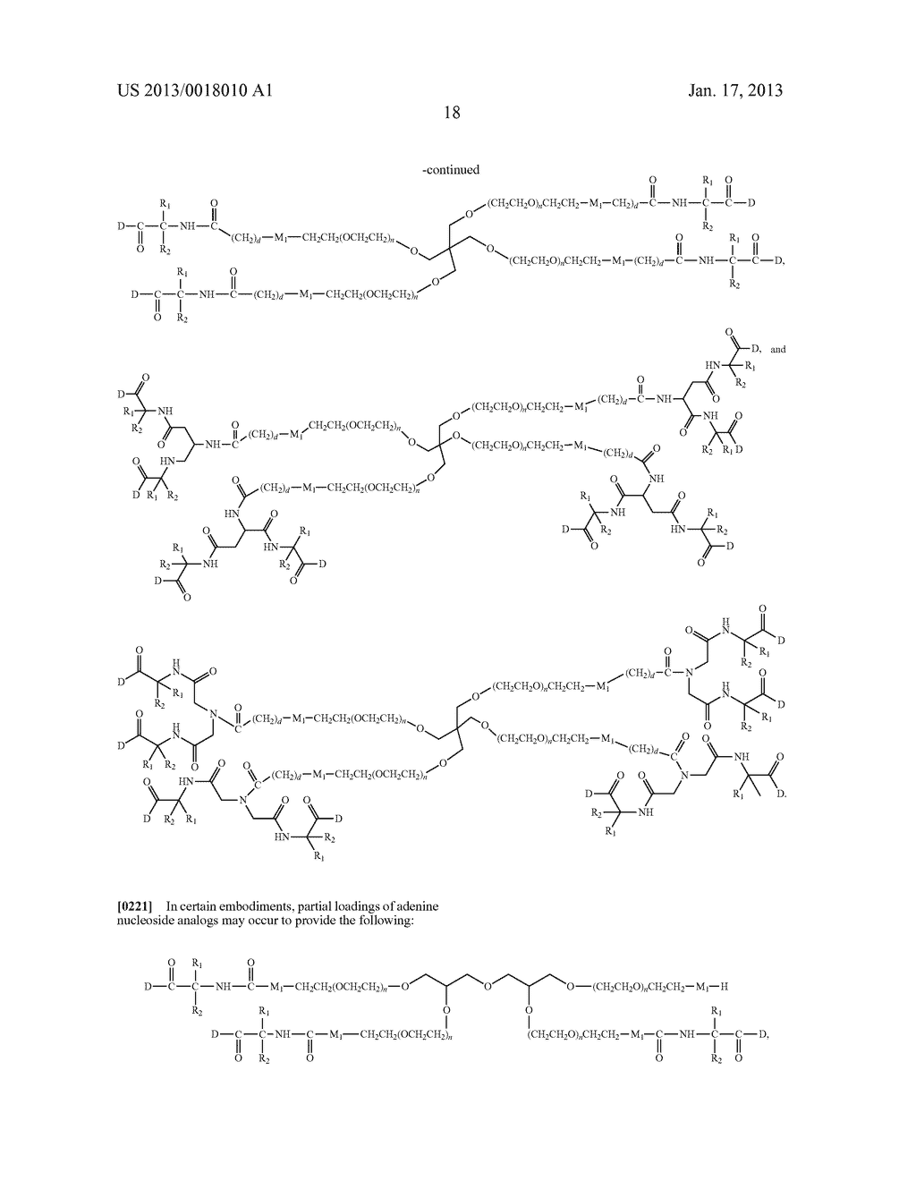 POLYMERIC CONJUGATES OF ADENINE NUCLEOSIDE ANALOGS - diagram, schematic, and image 37