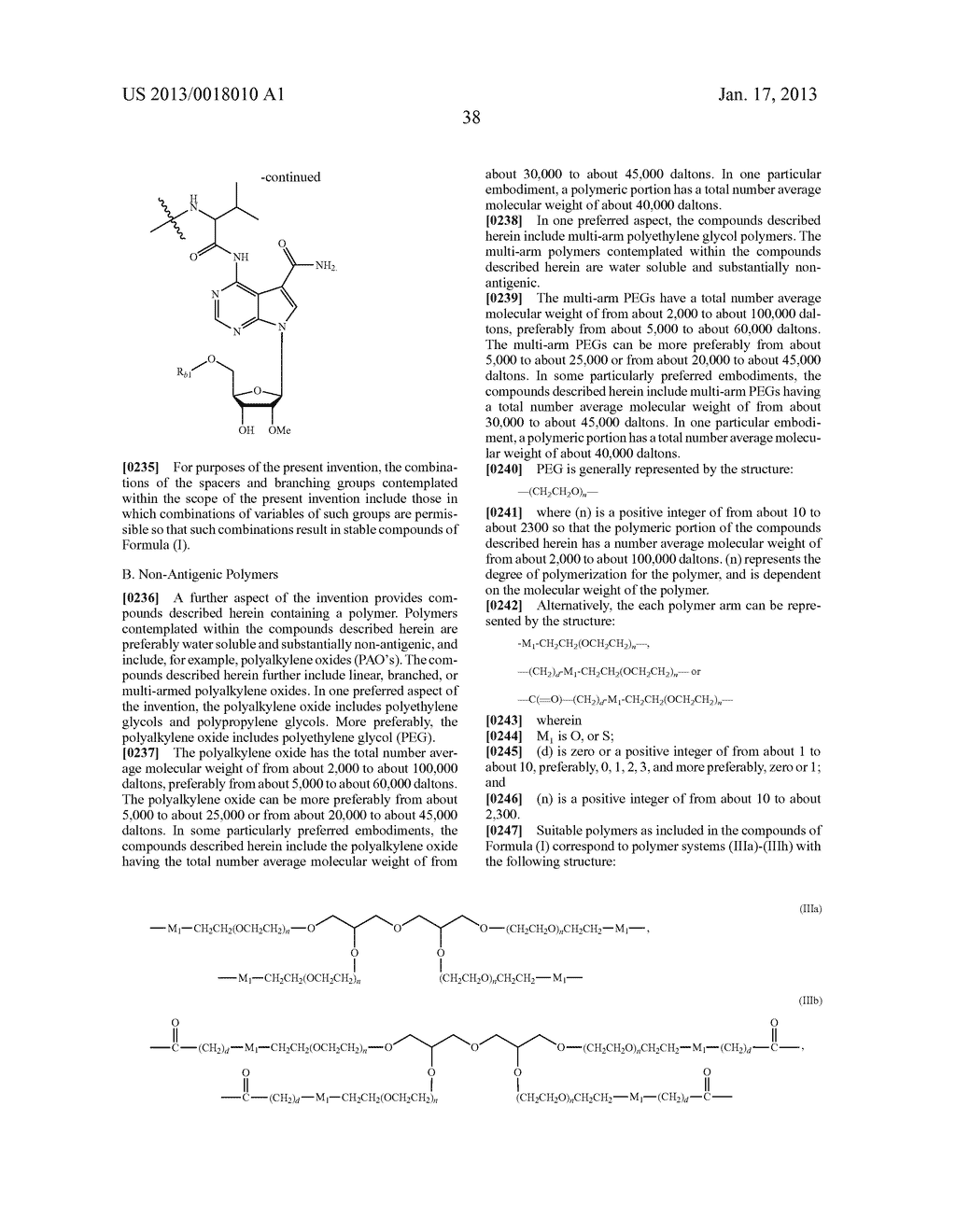 POLYMERIC CONJUGATES OF ADENINE NUCLEOSIDE ANALOGS - diagram, schematic, and image 57