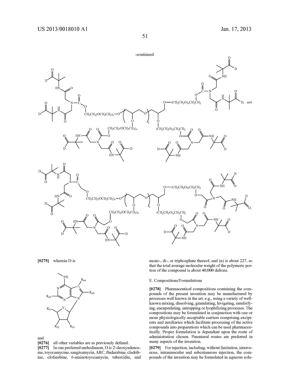 POLYMERIC CONJUGATES OF ADENINE NUCLEOSIDE ANALOGS - diagram, schematic, and image 70