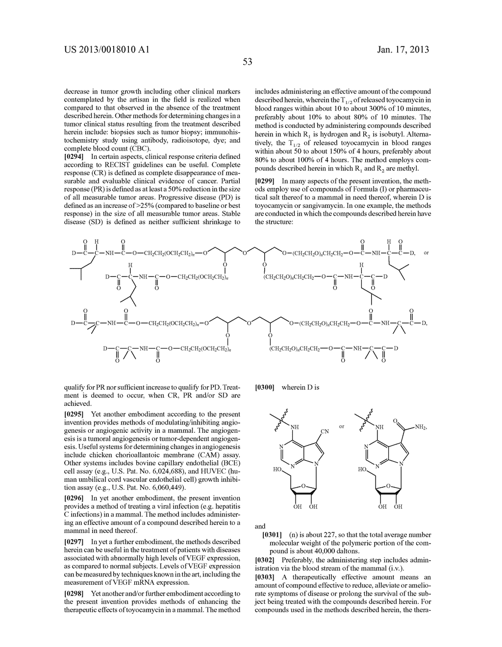 POLYMERIC CONJUGATES OF ADENINE NUCLEOSIDE ANALOGS - diagram, schematic, and image 72