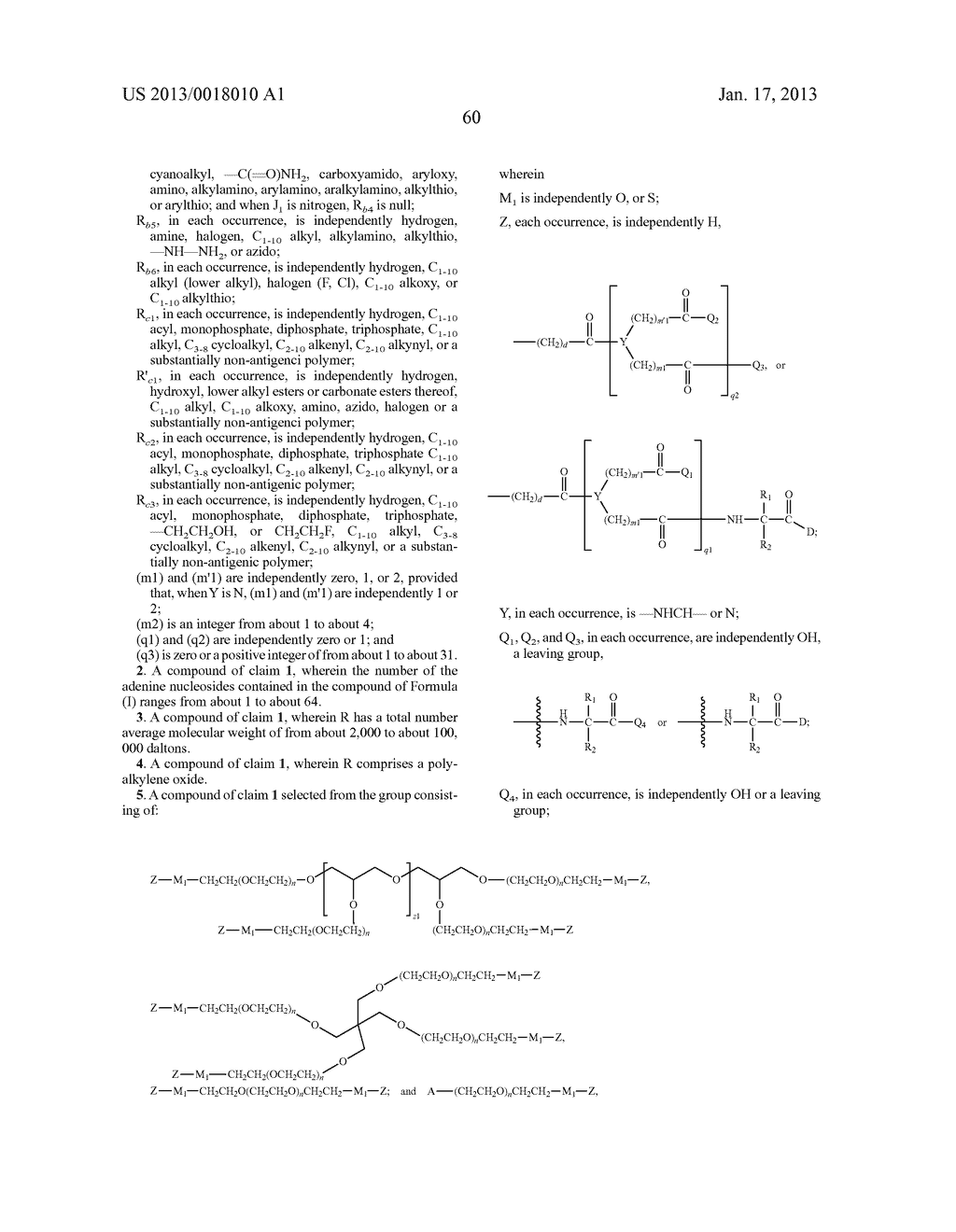 POLYMERIC CONJUGATES OF ADENINE NUCLEOSIDE ANALOGS - diagram, schematic, and image 79