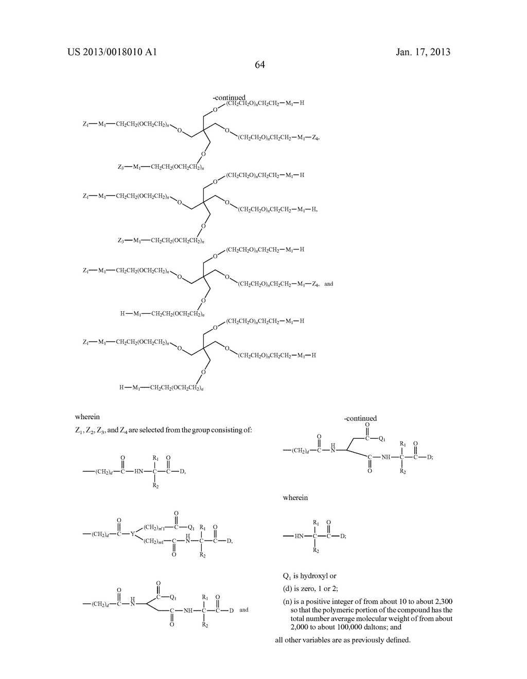 POLYMERIC CONJUGATES OF ADENINE NUCLEOSIDE ANALOGS - diagram, schematic, and image 83