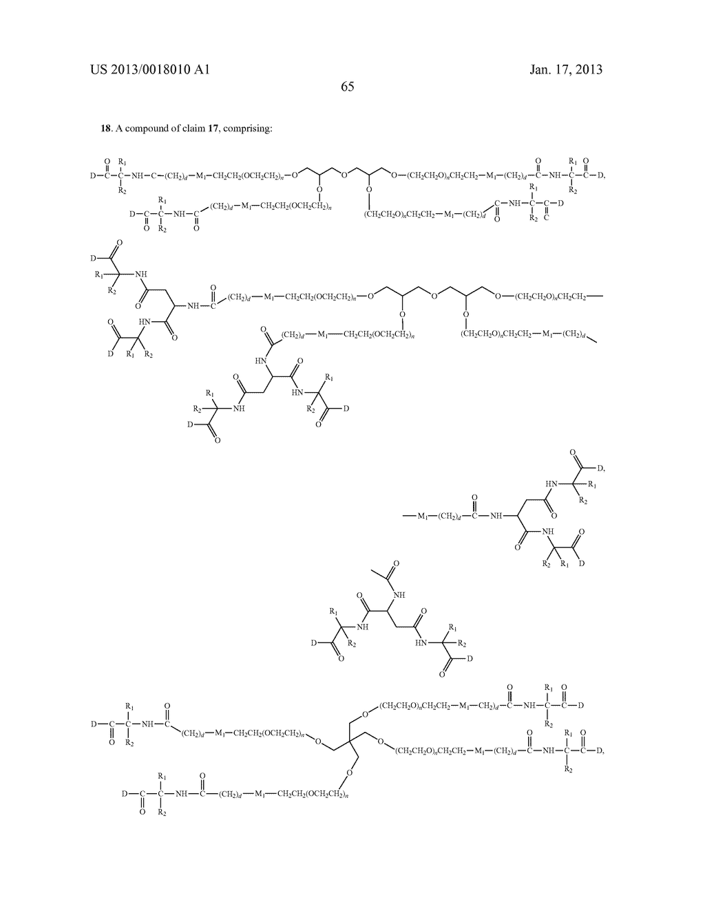 POLYMERIC CONJUGATES OF ADENINE NUCLEOSIDE ANALOGS - diagram, schematic, and image 84