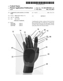 GARDENING GLOVE HAVING A CUTTING TOOL diagram and image