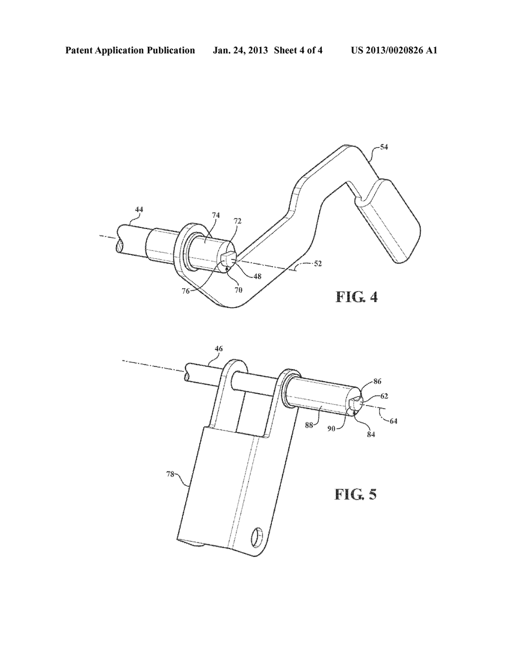DECKLID HINGE COUNTERBALANCE ASSEMBLY HAVING A STRAIGHT-END TORQUE ROD - diagram, schematic, and image 05