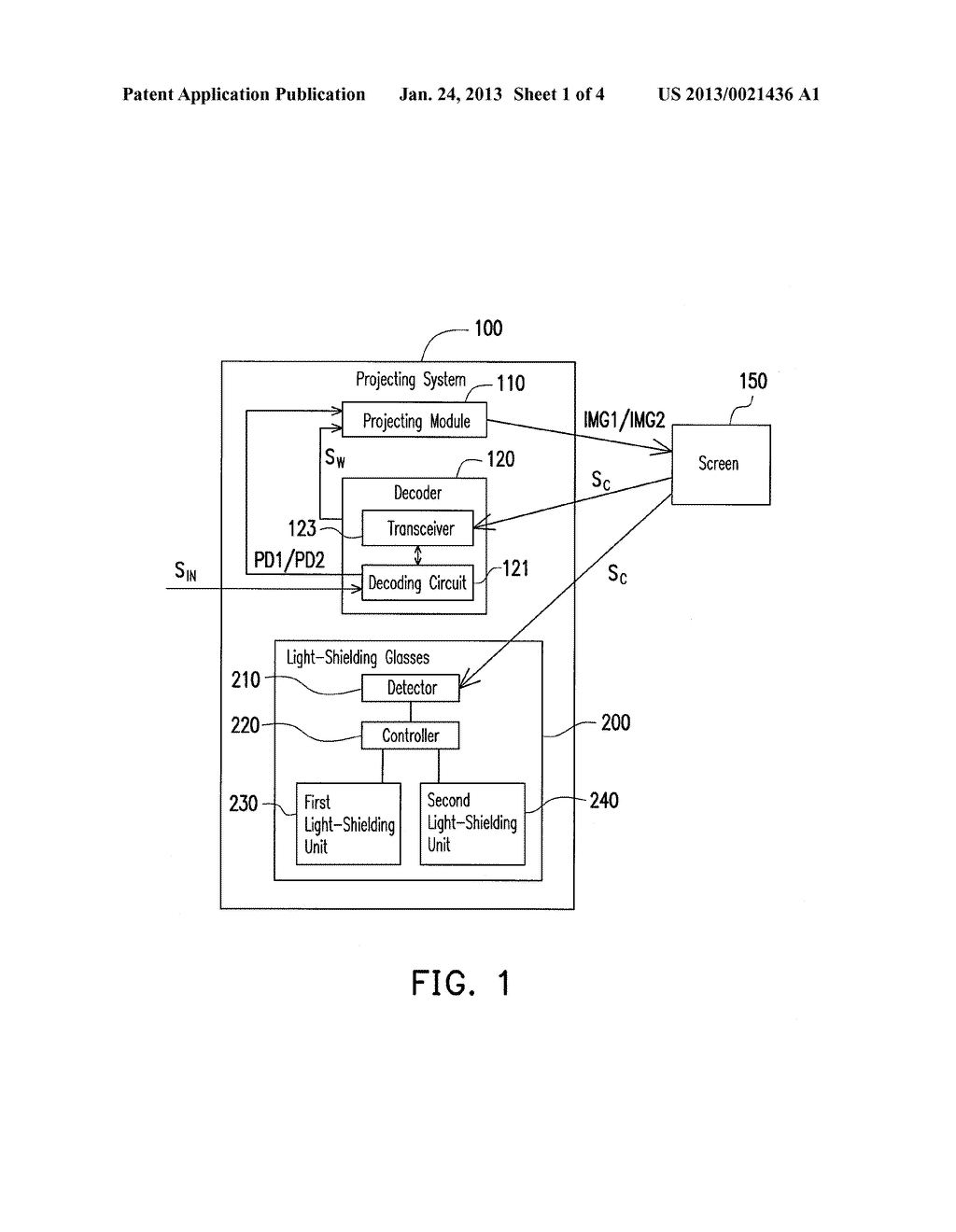 DECODER, PROJECTING SYSTEM, AND IMAGE PROCESSING METHOD OF THE PROJECTING     SYSTEM - diagram, schematic, and image 02