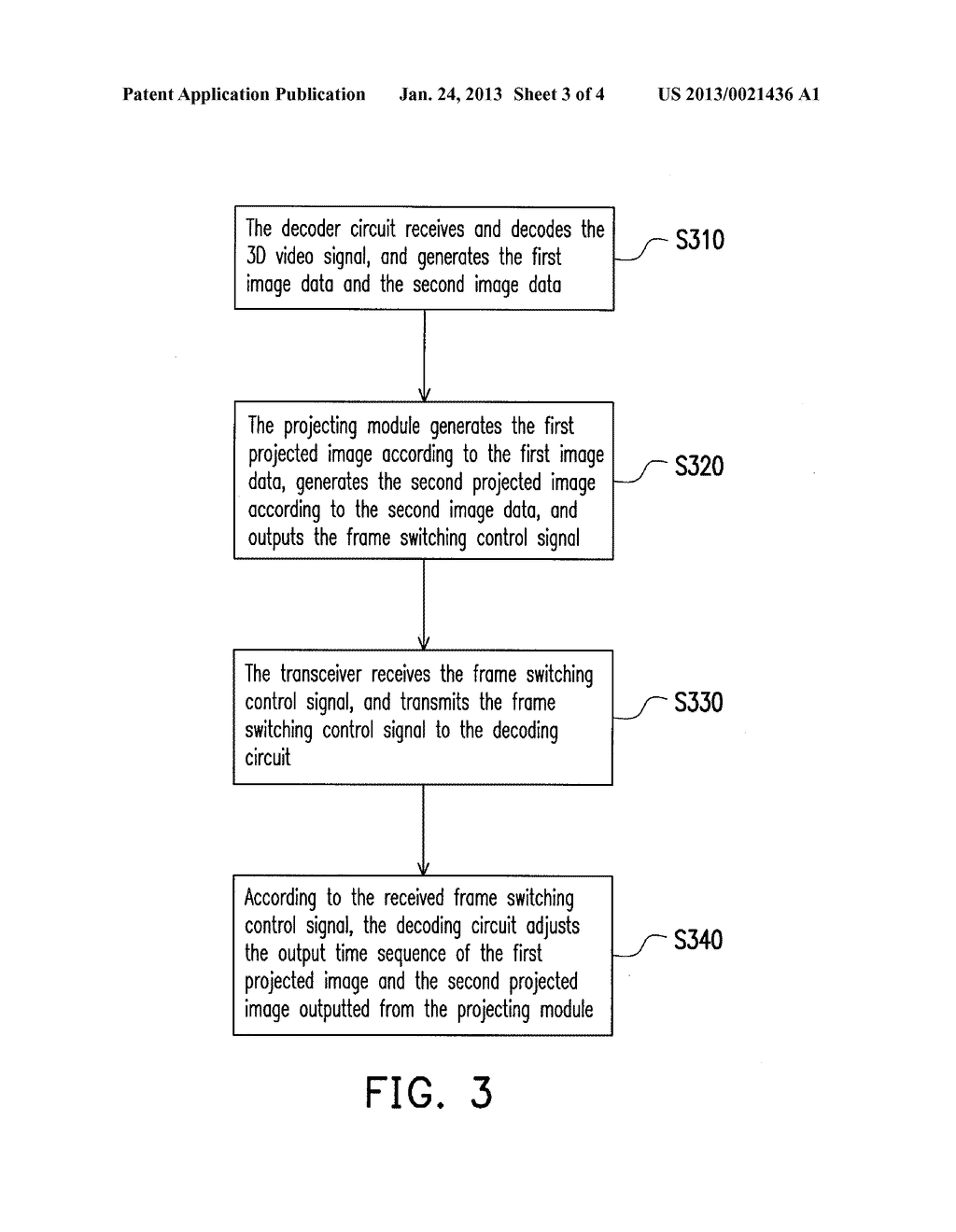 DECODER, PROJECTING SYSTEM, AND IMAGE PROCESSING METHOD OF THE PROJECTING     SYSTEM - diagram, schematic, and image 04