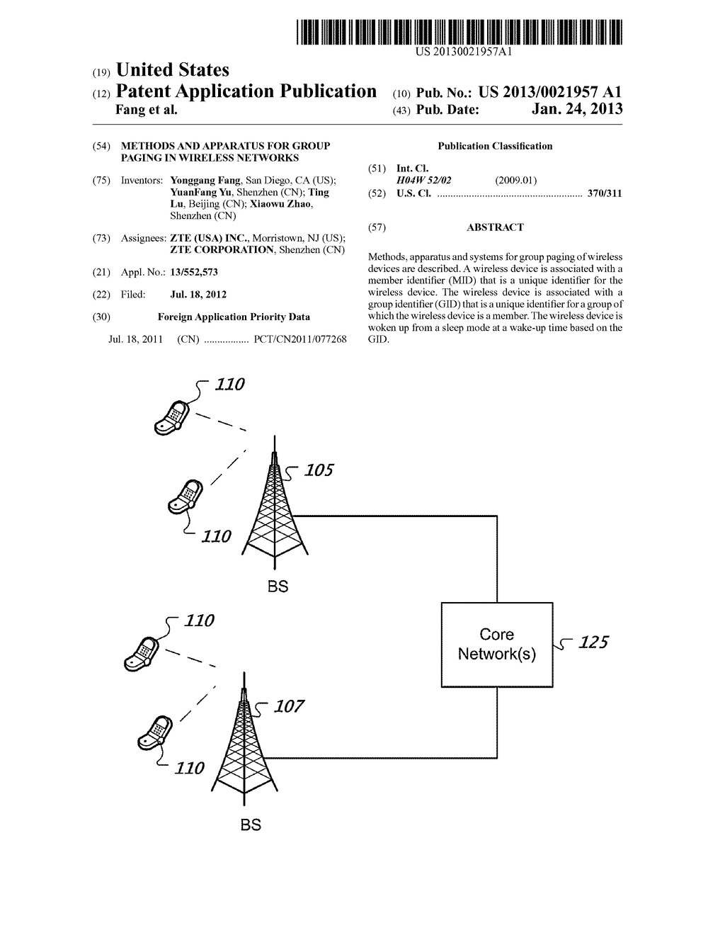 METHODS AND APPARATUS FOR GROUP PAGING IN WIRELESS NETWORKS - diagram, schematic, and image 01