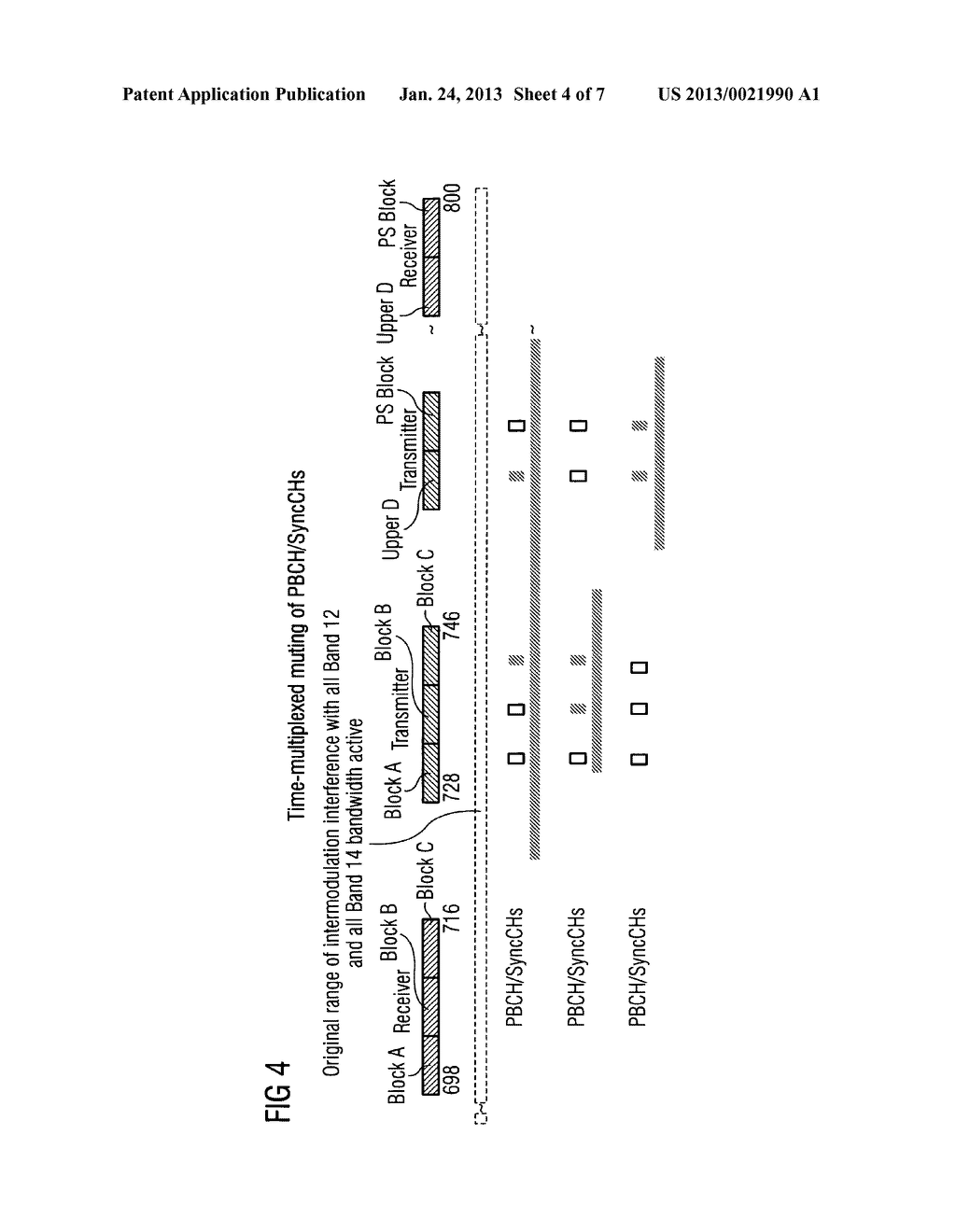 Apparatus and Method for Scheduling in Carrier Aggregated Communication     Systems Based on a Transmit-Receive-Frequency Gap Band - diagram, schematic, and image 05