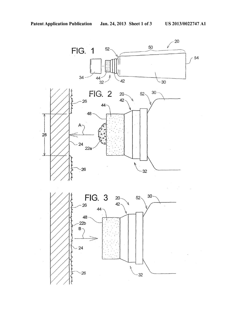 Tube With Resilient Applicator for Dispensing Texture Material - diagram, schematic, and image 02