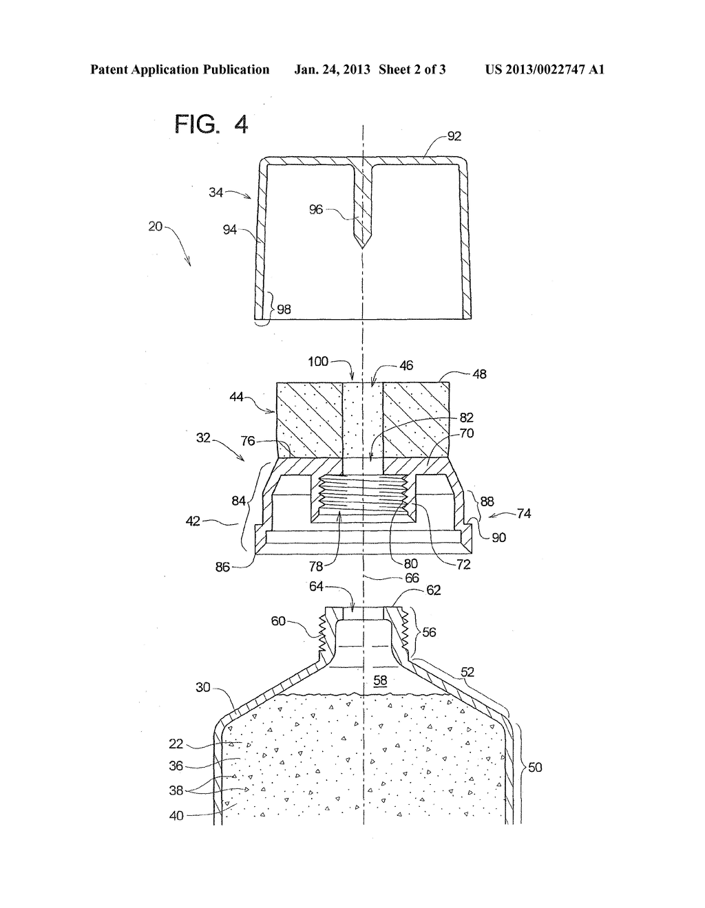 Tube With Resilient Applicator for Dispensing Texture Material - diagram, schematic, and image 03
