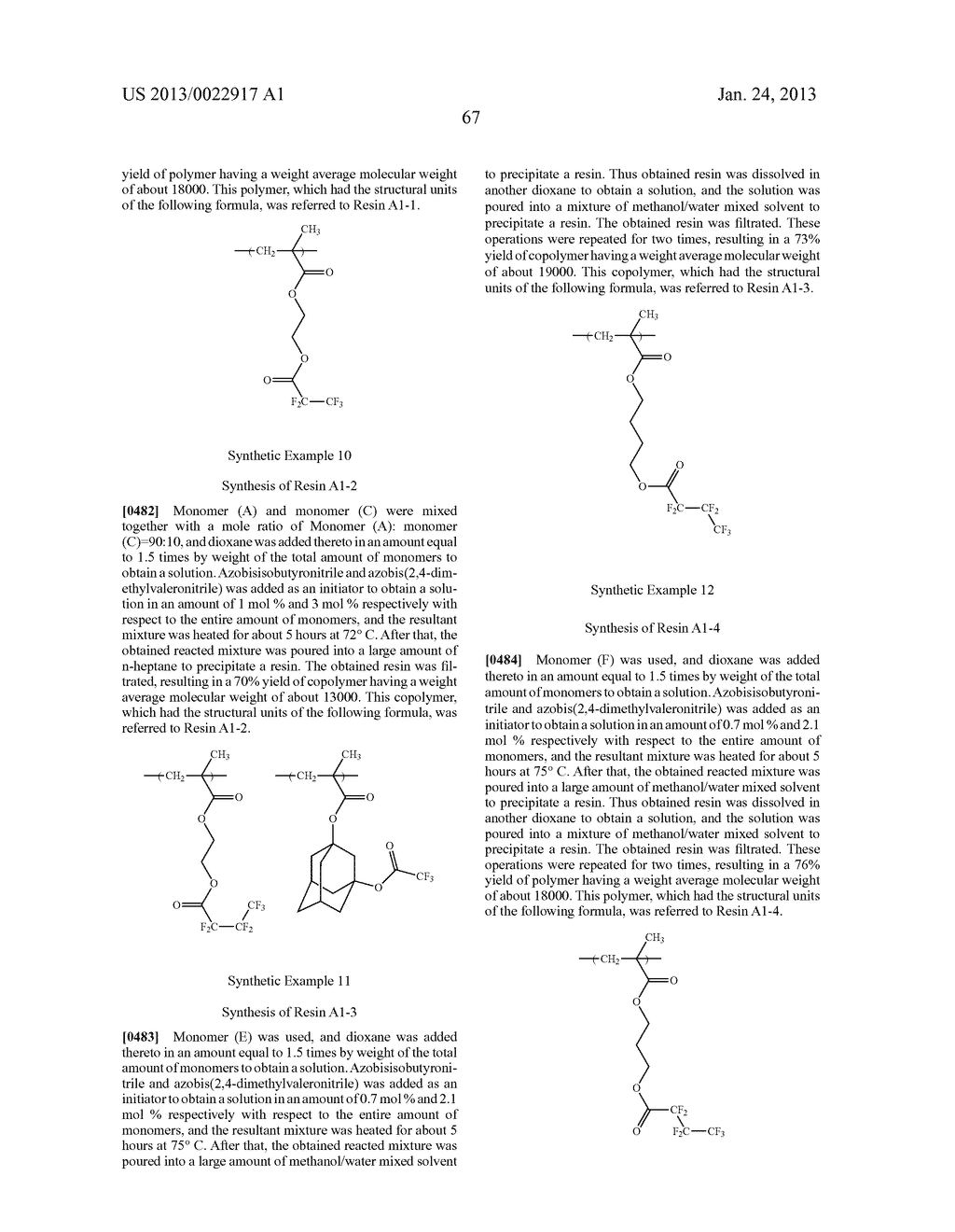 RESIST COMPOSITION AND METHOD FOR PRODUCING RESIST PATTERN - diagram, schematic, and image 68
