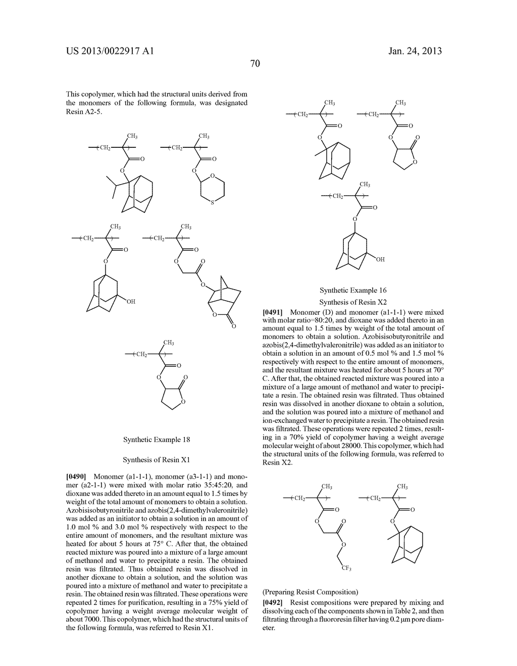 RESIST COMPOSITION AND METHOD FOR PRODUCING RESIST PATTERN - diagram, schematic, and image 71