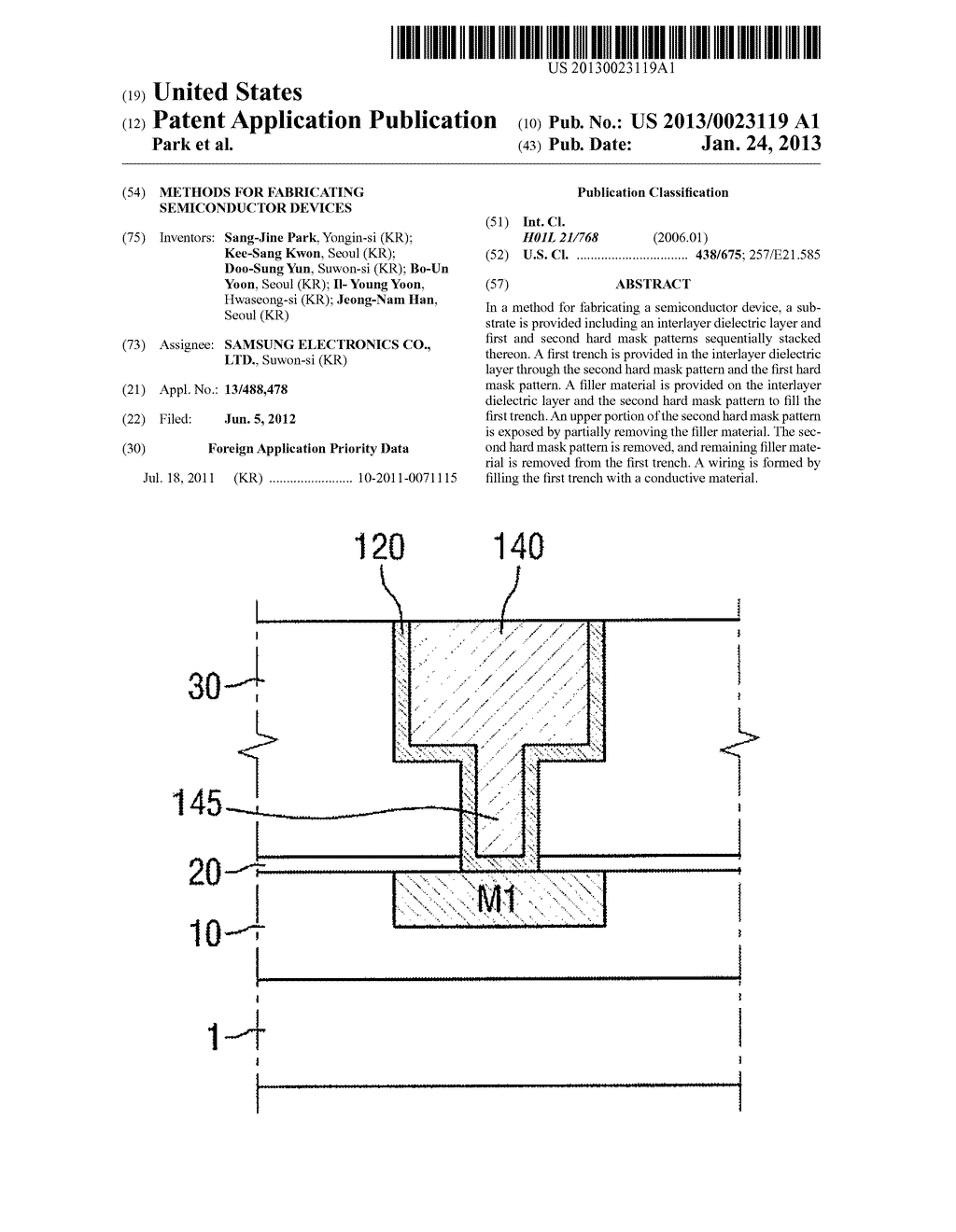 METHODS FOR FABRICATING SEMICONDUCTOR DEVICES - diagram, schematic, and image 01