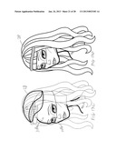 Doll Having Replaceable Heads with Multiple Faces and Replaceable Wigs diagram and image