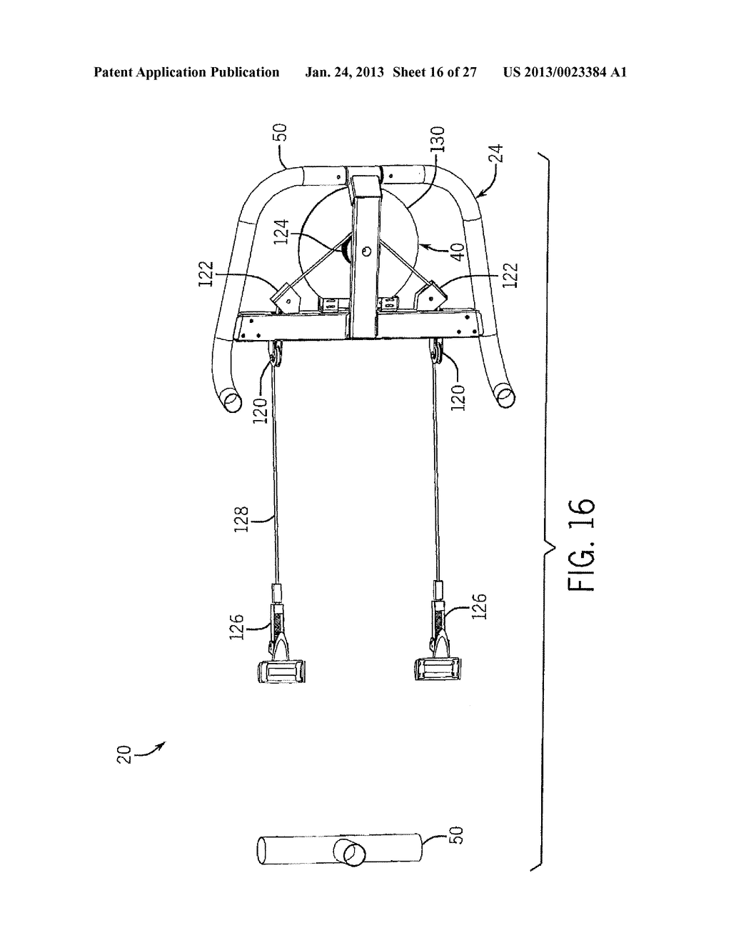 EXERCISE APPARATUS WITH FLEXIBLE ELEMENT - diagram, schematic, and image 17