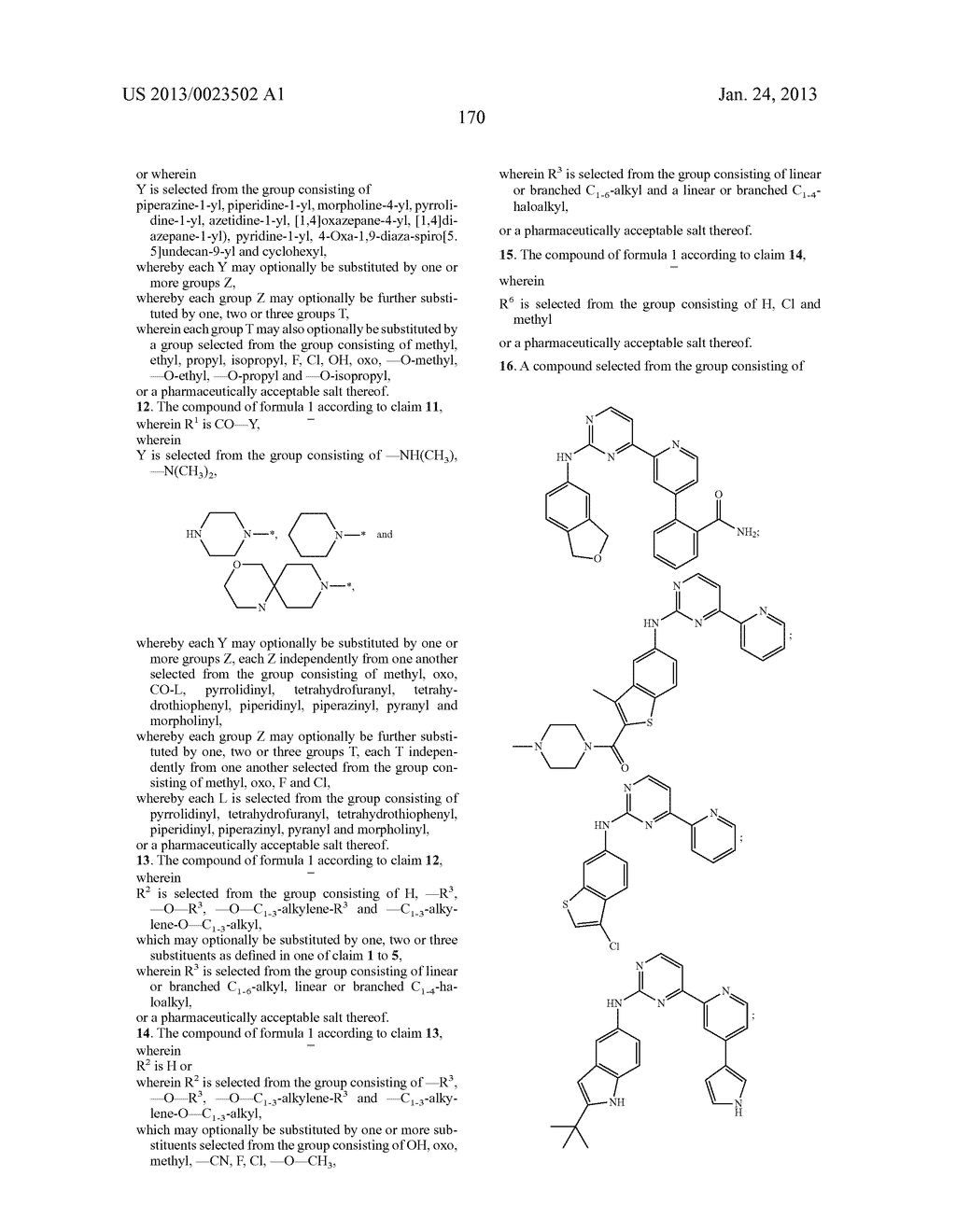 SUBSTITUTED PYRIDINYL-PYRIMIDINES AND THEIR USE AS MEDICAMENTS - diagram, schematic, and image 171