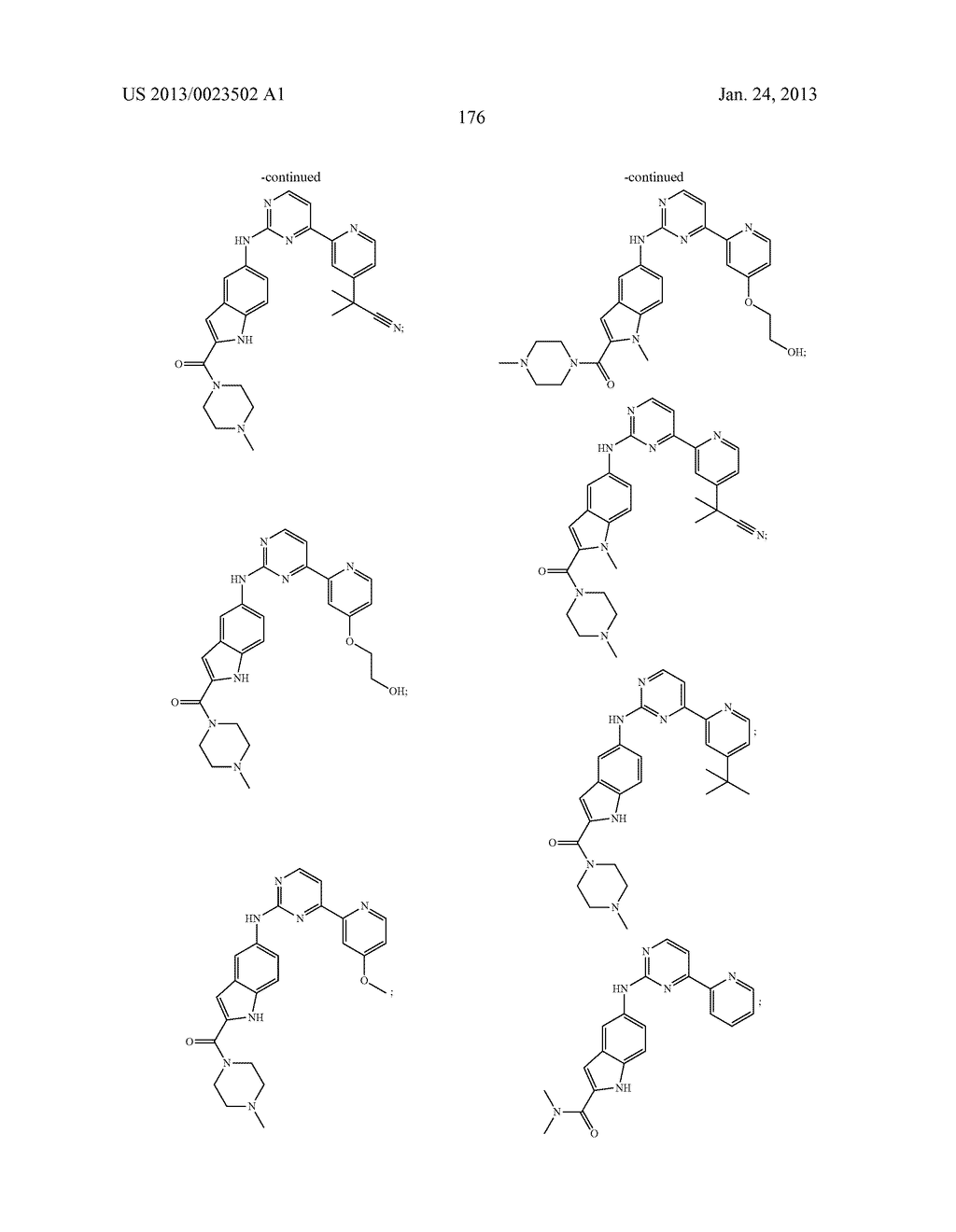 SUBSTITUTED PYRIDINYL-PYRIMIDINES AND THEIR USE AS MEDICAMENTS - diagram, schematic, and image 177