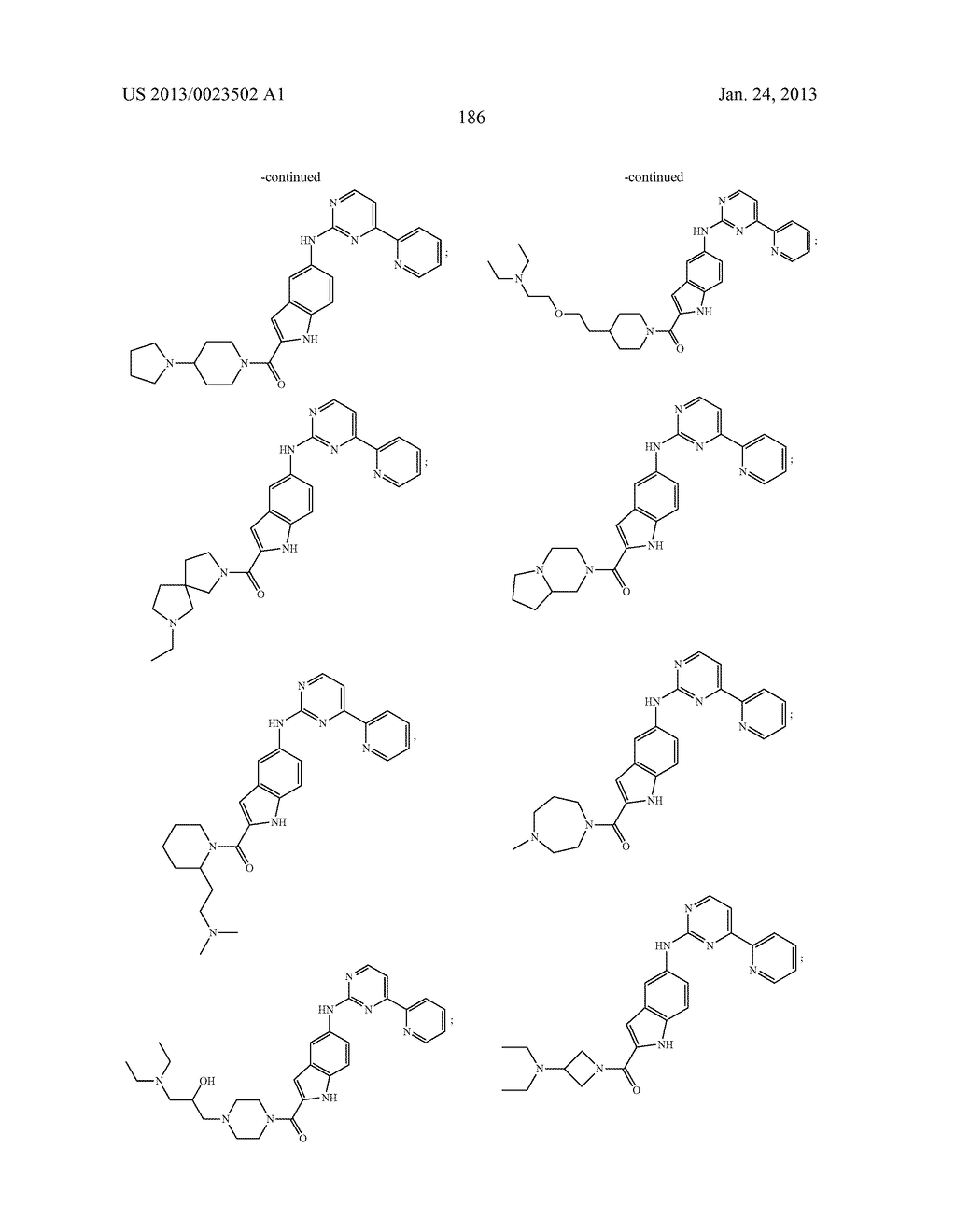 SUBSTITUTED PYRIDINYL-PYRIMIDINES AND THEIR USE AS MEDICAMENTS - diagram, schematic, and image 187
