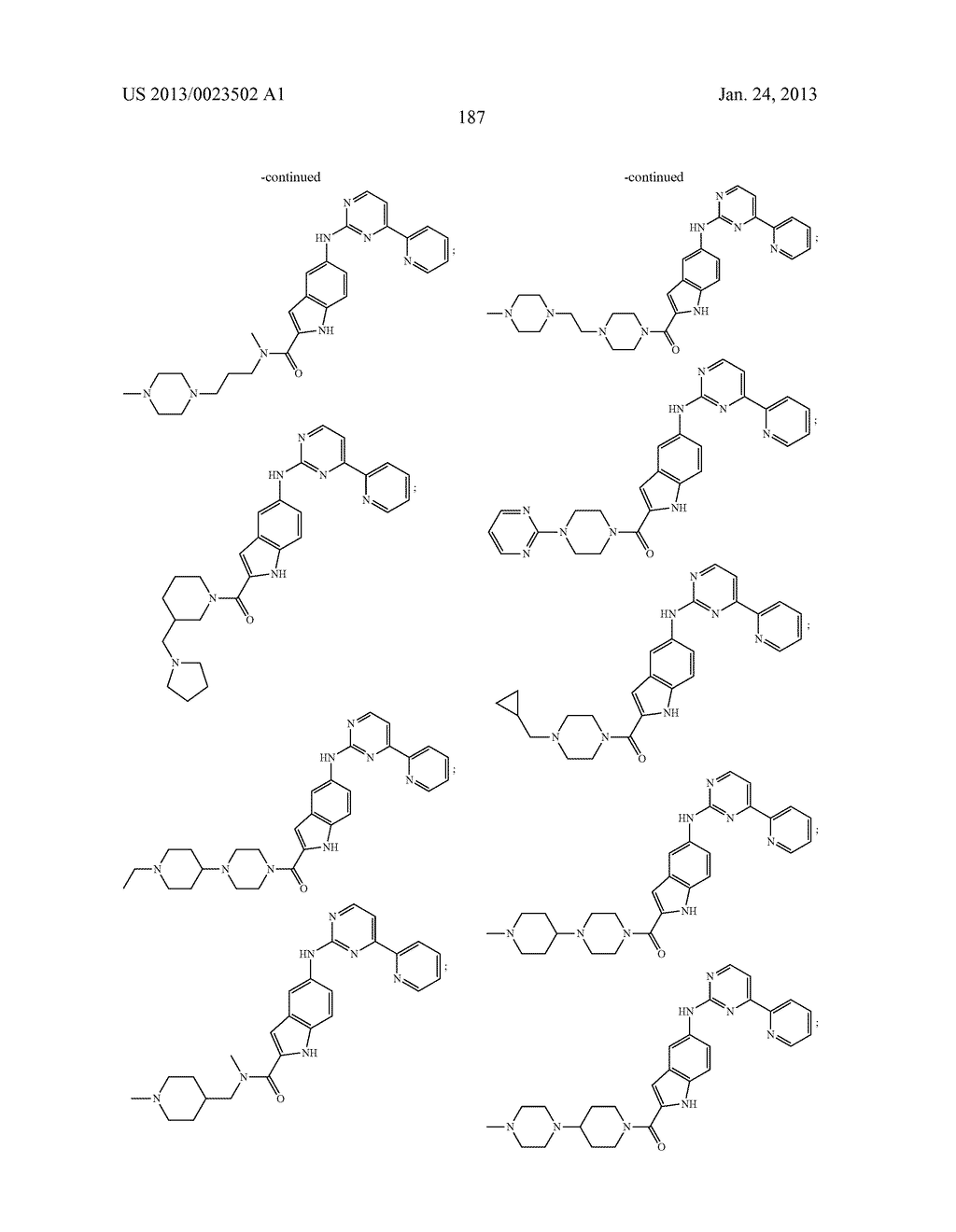 SUBSTITUTED PYRIDINYL-PYRIMIDINES AND THEIR USE AS MEDICAMENTS - diagram, schematic, and image 188