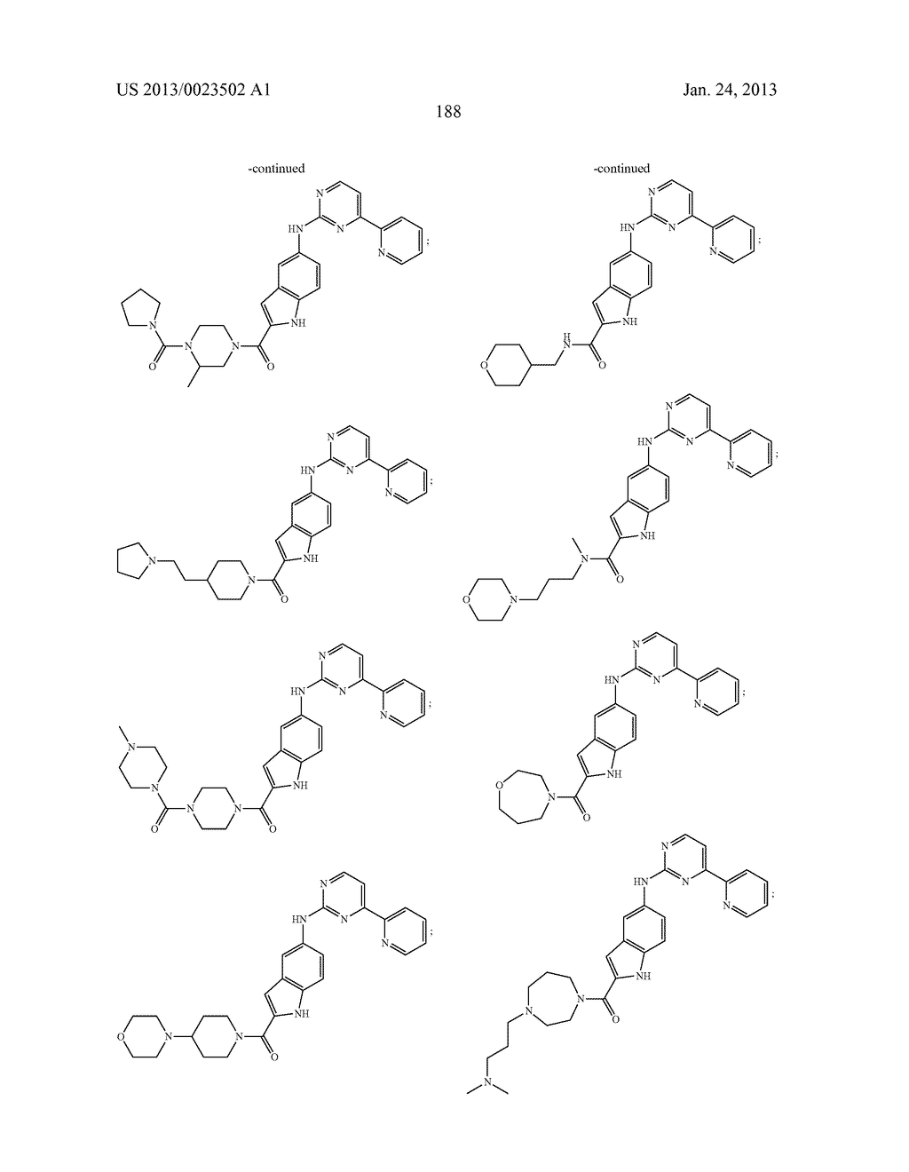 SUBSTITUTED PYRIDINYL-PYRIMIDINES AND THEIR USE AS MEDICAMENTS - diagram, schematic, and image 189
