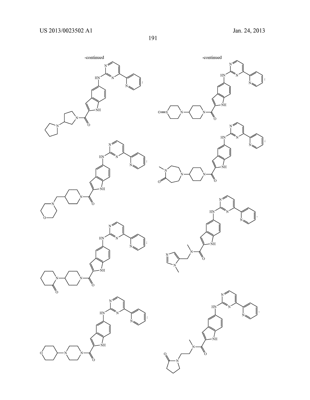 SUBSTITUTED PYRIDINYL-PYRIMIDINES AND THEIR USE AS MEDICAMENTS - diagram, schematic, and image 192