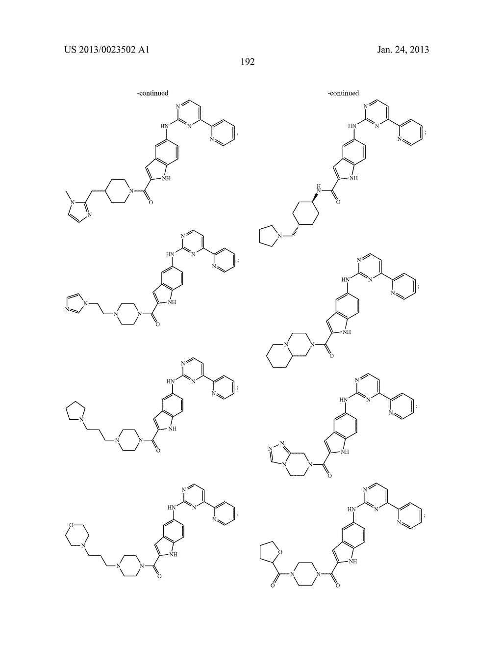 SUBSTITUTED PYRIDINYL-PYRIMIDINES AND THEIR USE AS MEDICAMENTS - diagram, schematic, and image 193
