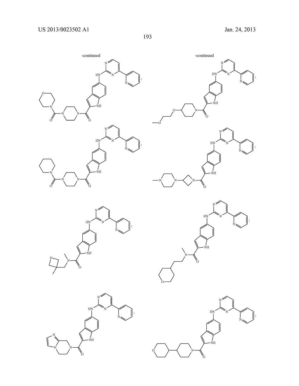 SUBSTITUTED PYRIDINYL-PYRIMIDINES AND THEIR USE AS MEDICAMENTS - diagram, schematic, and image 194