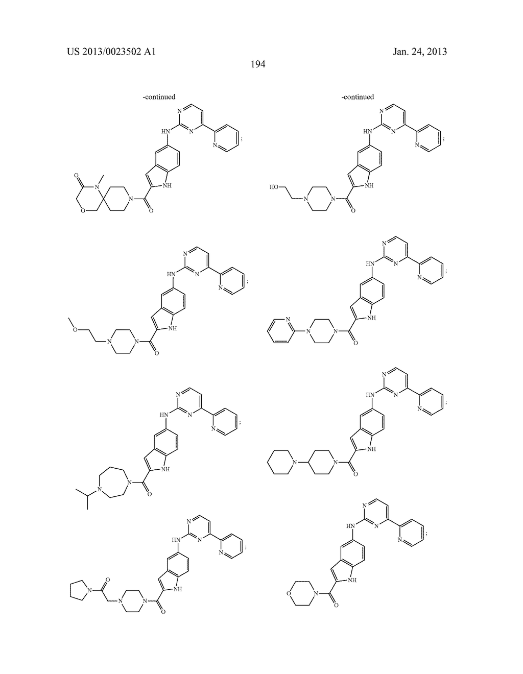 SUBSTITUTED PYRIDINYL-PYRIMIDINES AND THEIR USE AS MEDICAMENTS - diagram, schematic, and image 195
