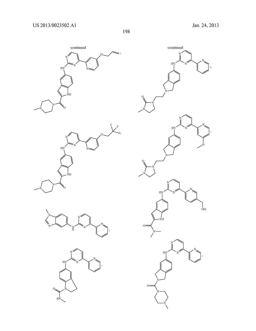 SUBSTITUTED PYRIDINYL-PYRIMIDINES AND THEIR USE AS MEDICAMENTS - diagram, schematic, and image 199