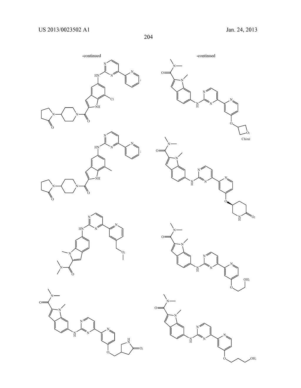 SUBSTITUTED PYRIDINYL-PYRIMIDINES AND THEIR USE AS MEDICAMENTS - diagram, schematic, and image 205