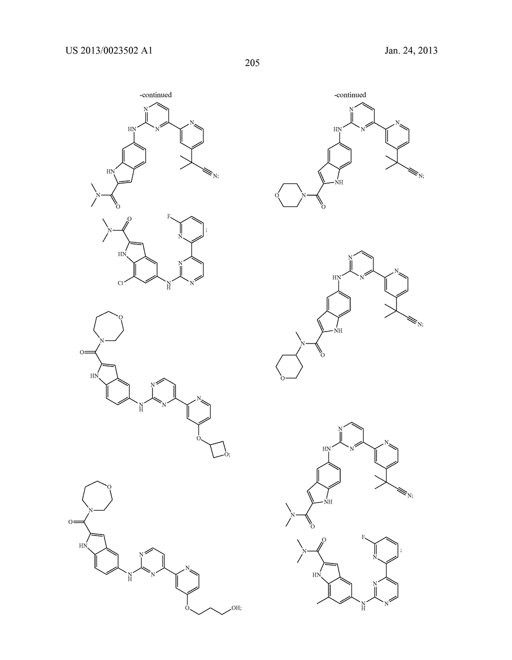 SUBSTITUTED PYRIDINYL-PYRIMIDINES AND THEIR USE AS MEDICAMENTS - diagram, schematic, and image 206