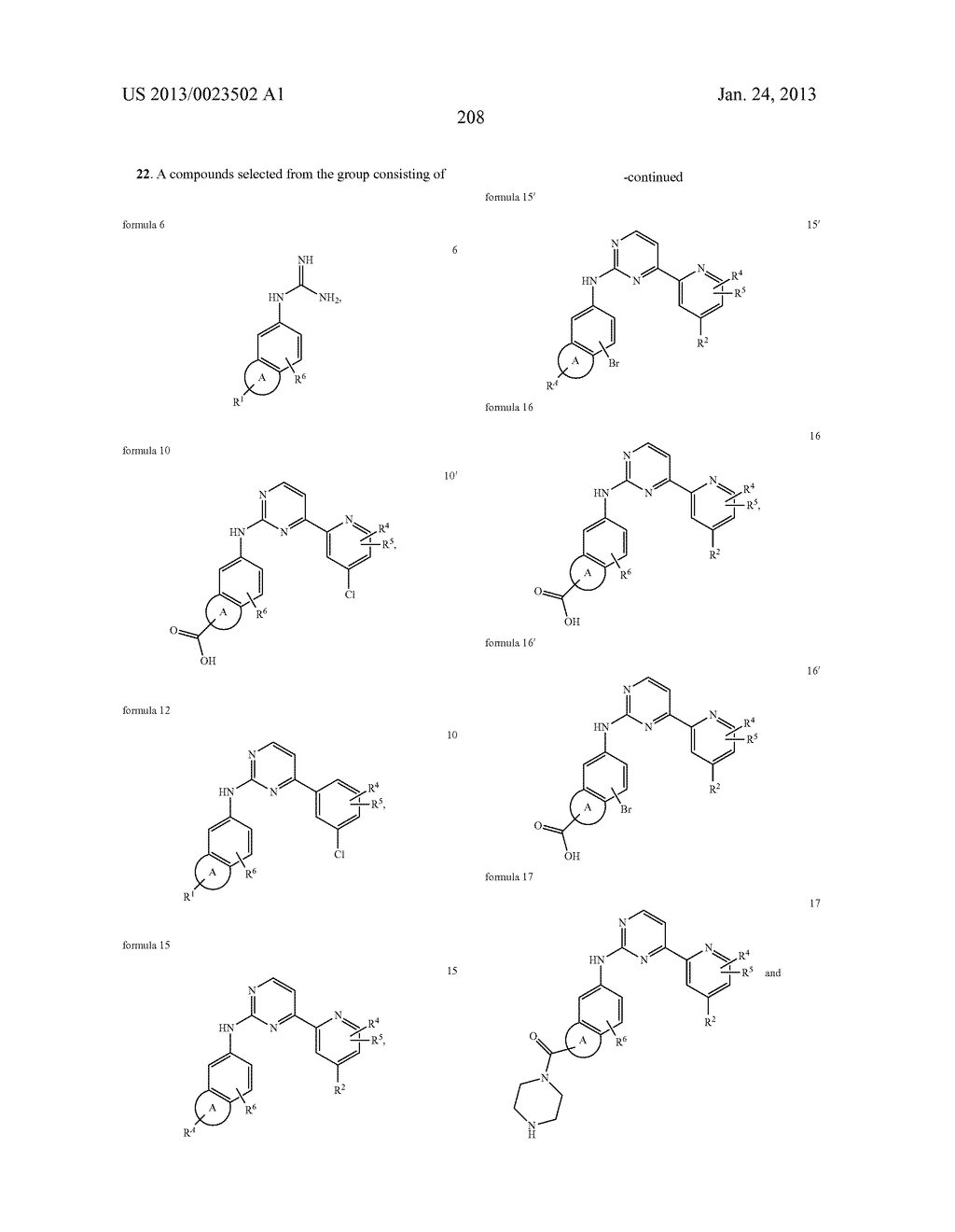 SUBSTITUTED PYRIDINYL-PYRIMIDINES AND THEIR USE AS MEDICAMENTS - diagram, schematic, and image 209