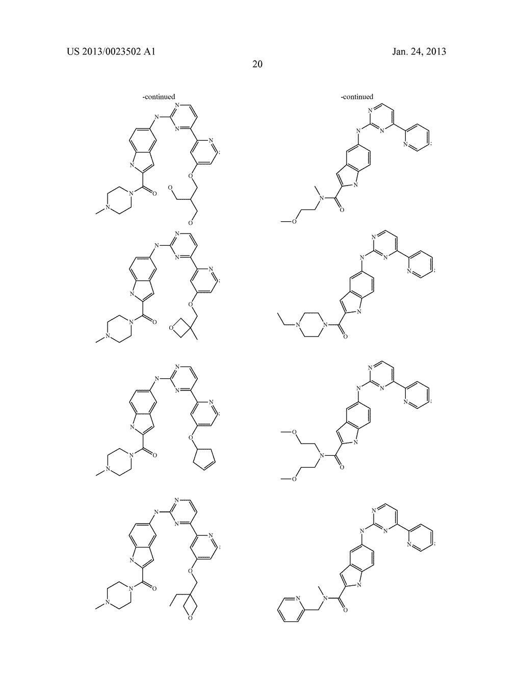 SUBSTITUTED PYRIDINYL-PYRIMIDINES AND THEIR USE AS MEDICAMENTS - diagram, schematic, and image 21