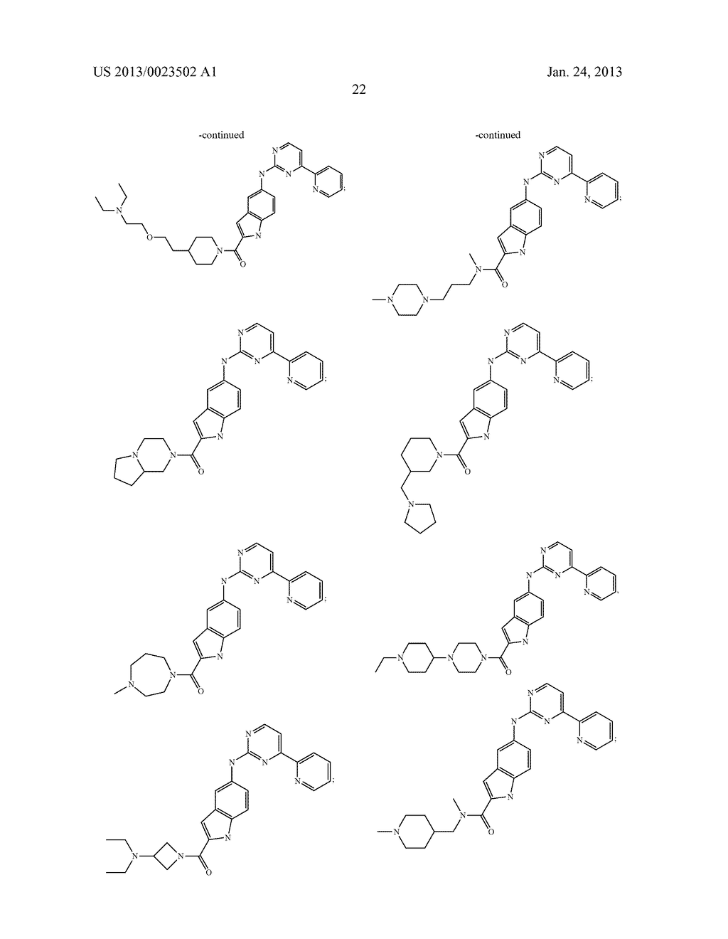 SUBSTITUTED PYRIDINYL-PYRIMIDINES AND THEIR USE AS MEDICAMENTS - diagram, schematic, and image 23