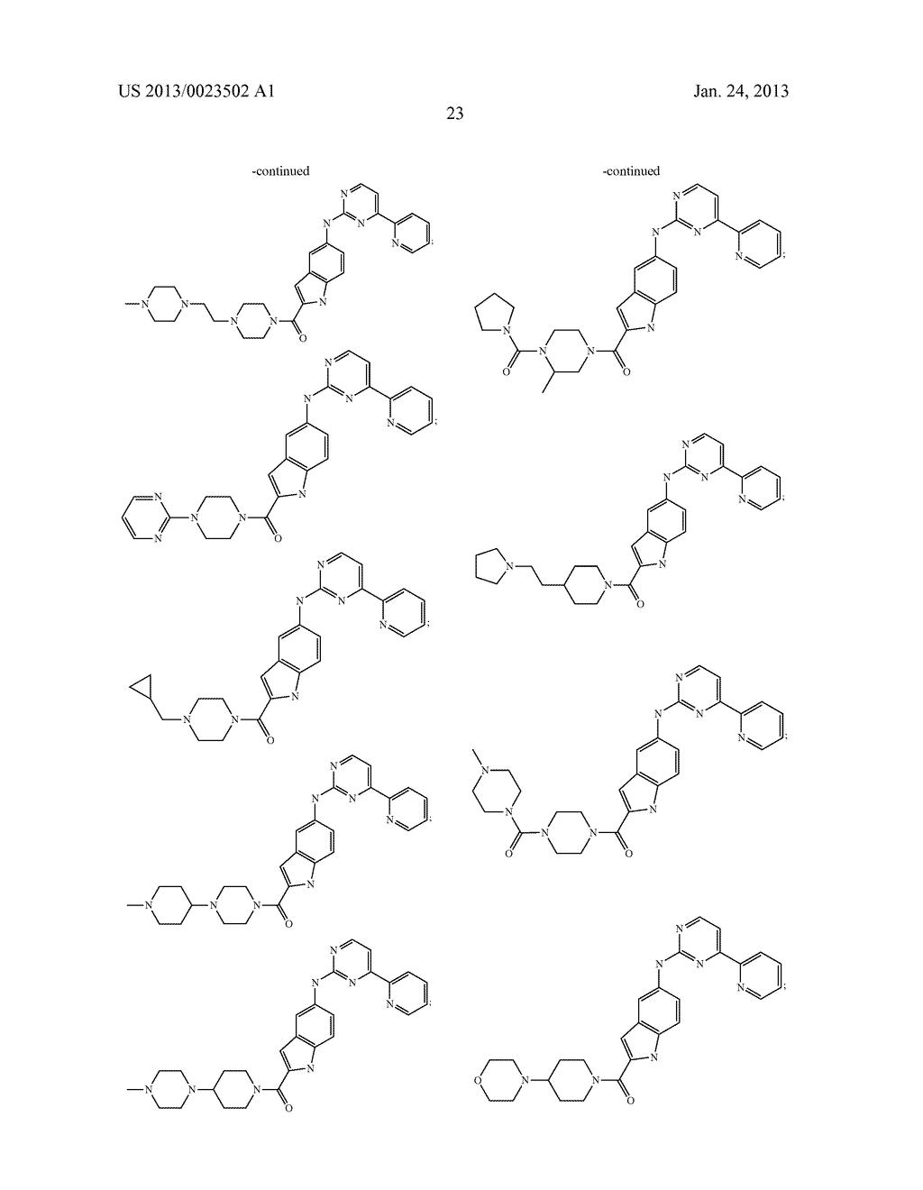 SUBSTITUTED PYRIDINYL-PYRIMIDINES AND THEIR USE AS MEDICAMENTS - diagram, schematic, and image 24