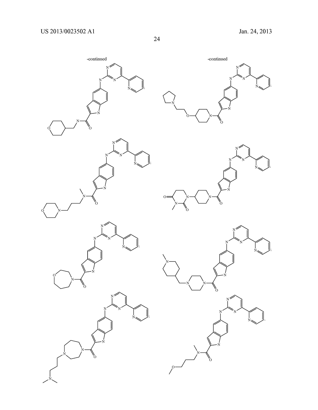 SUBSTITUTED PYRIDINYL-PYRIMIDINES AND THEIR USE AS MEDICAMENTS - diagram, schematic, and image 25