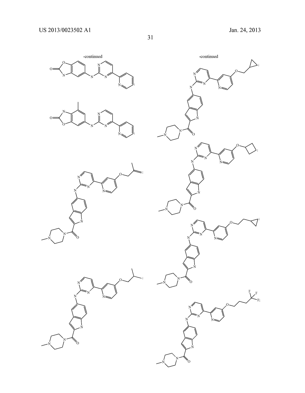 SUBSTITUTED PYRIDINYL-PYRIMIDINES AND THEIR USE AS MEDICAMENTS - diagram, schematic, and image 32