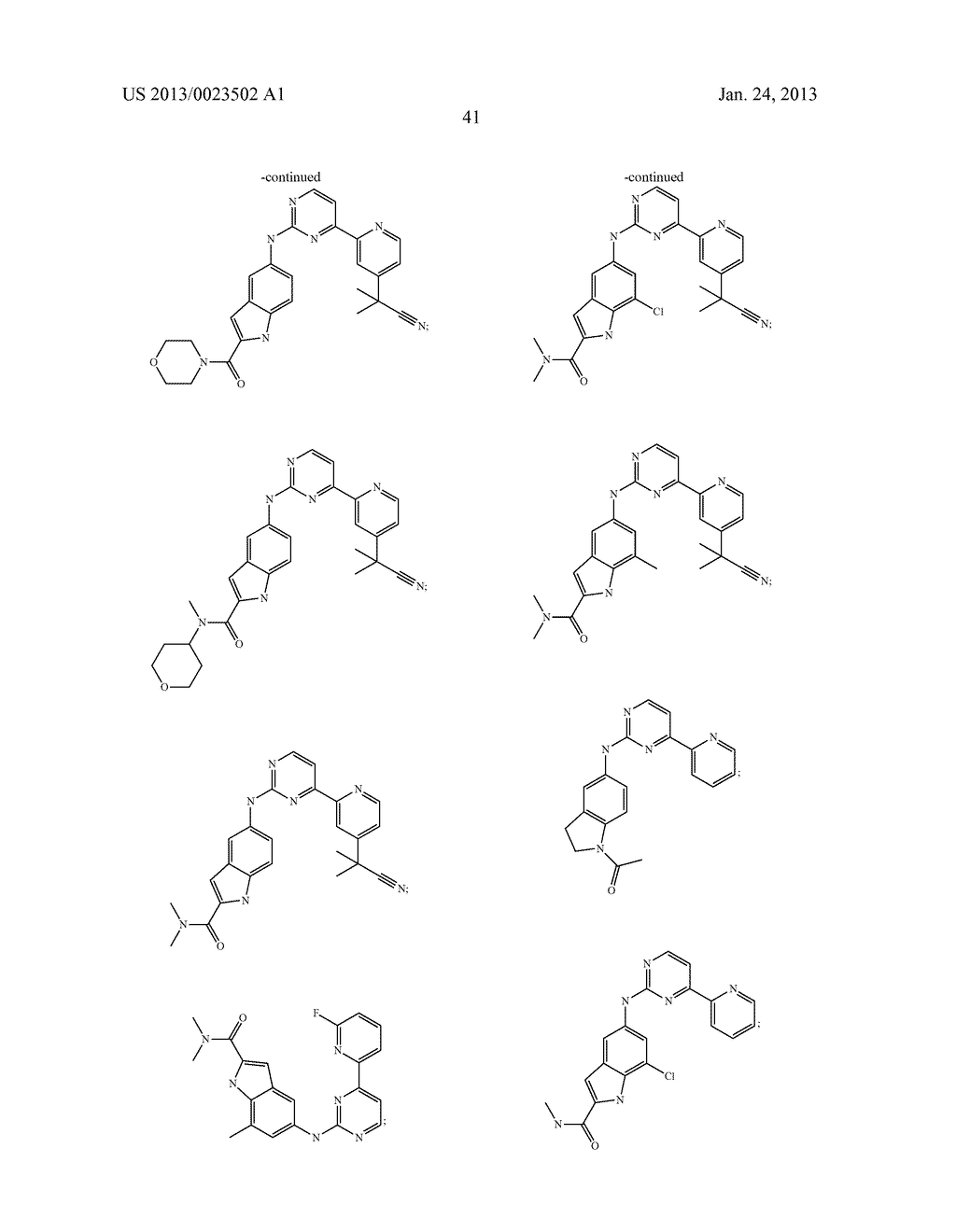 SUBSTITUTED PYRIDINYL-PYRIMIDINES AND THEIR USE AS MEDICAMENTS - diagram, schematic, and image 42