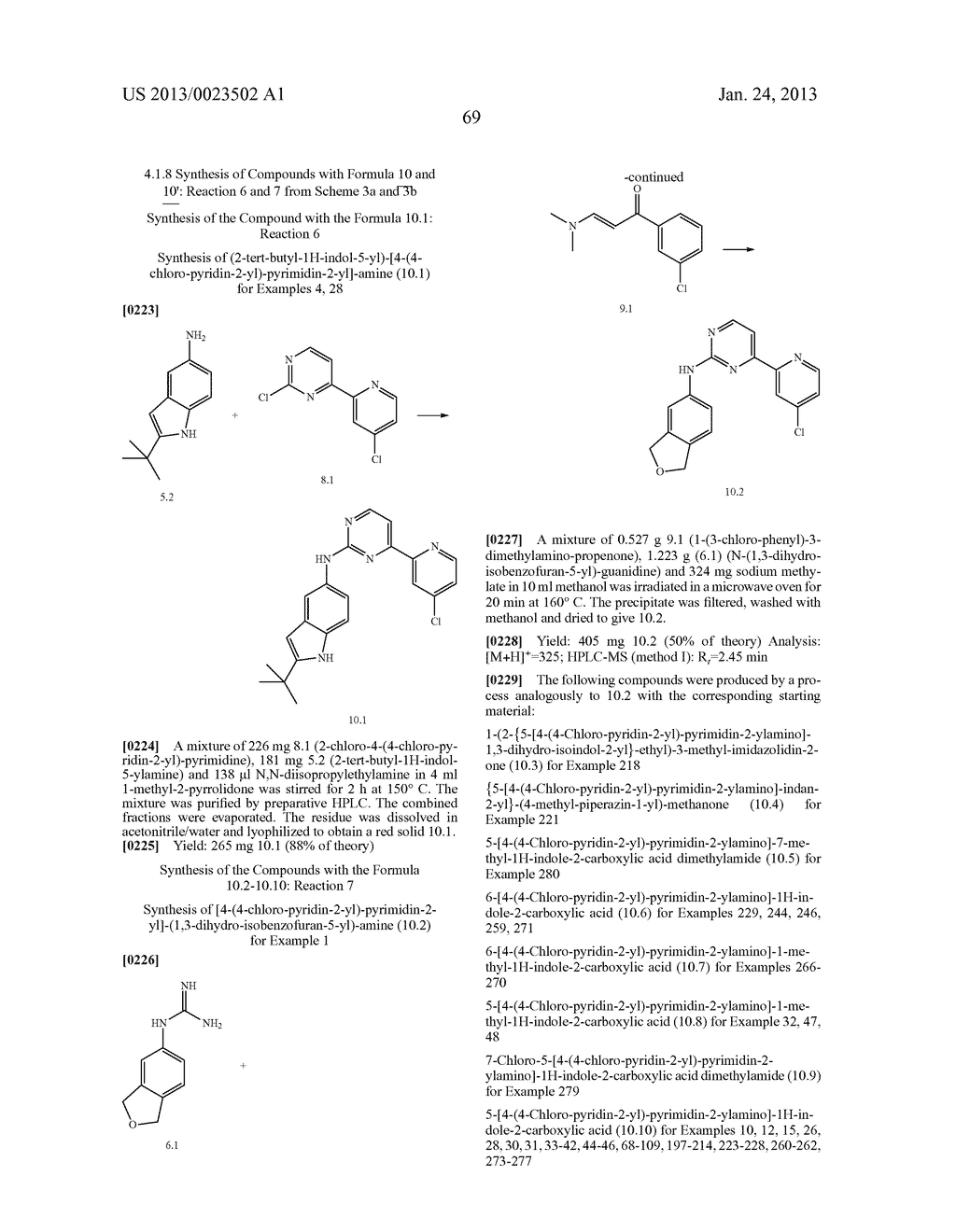 SUBSTITUTED PYRIDINYL-PYRIMIDINES AND THEIR USE AS MEDICAMENTS - diagram, schematic, and image 70